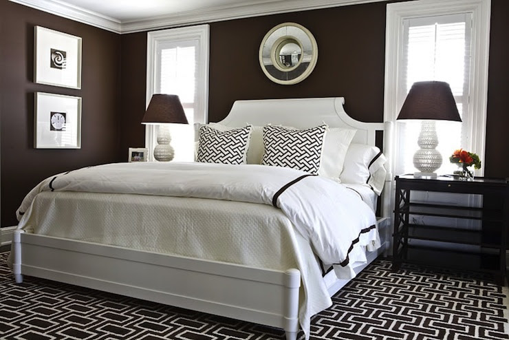 Brown Walls - Transitional - bedroom - Benjamin Moore Chocolate ...