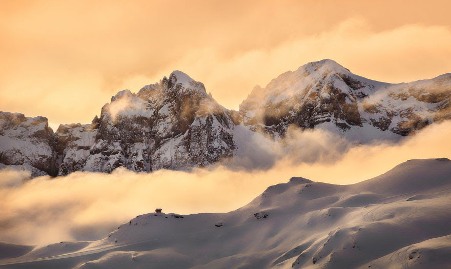 Dents Du Midi In The Swiss Alps