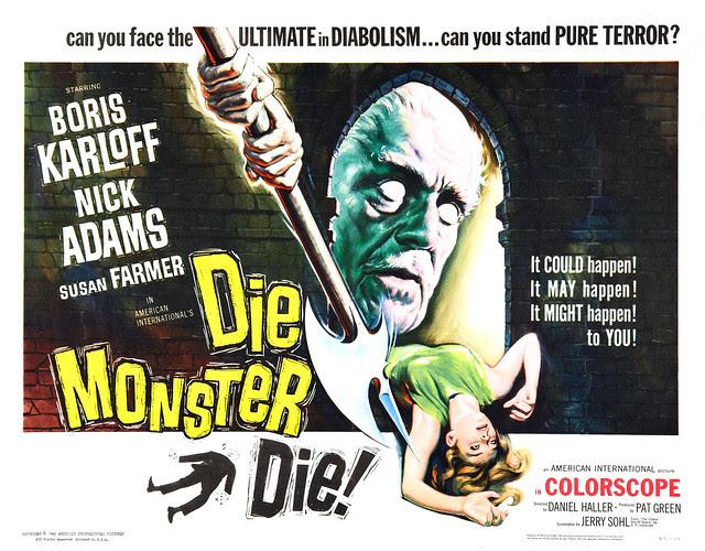 Reynold Brown - Die Monster Die! (American International, 1965) half sheet
