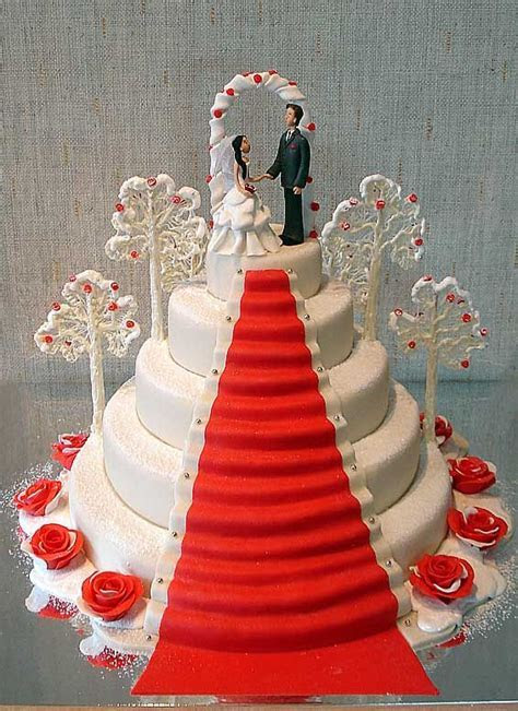 1000  images about Wedding Cakes   Red & White on