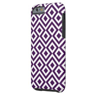 Purple and White Meander iPhone 6 Case