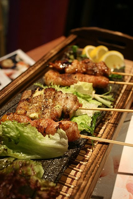 Hibiki boasts an outdoor sumiyaki (charcoal grill) patio