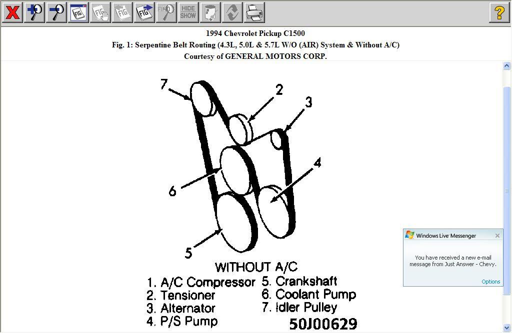 33 1994 Chevy Silverado Serpentine Belt Diagram