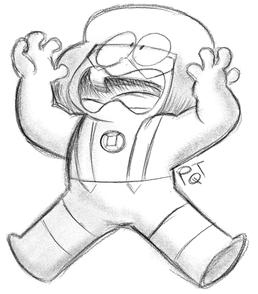 I cannot animate, ok, do not look at me! I have no idea how that works! Also, Hooray for Navy. That other doodle I made when I felt bad Navy and Army were separated after all that effort. Doc screams...