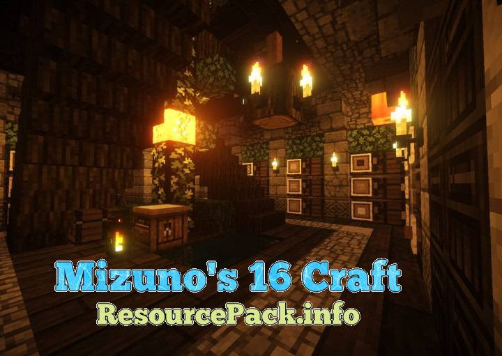 Download Mizuno's 16 Craft Resource Pack for 1.15.1/1.14.4/1.13.2/1 ...