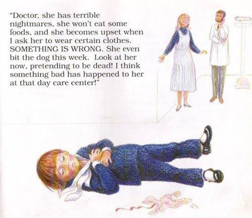 A mãe descreve os syptoms de uma criança com