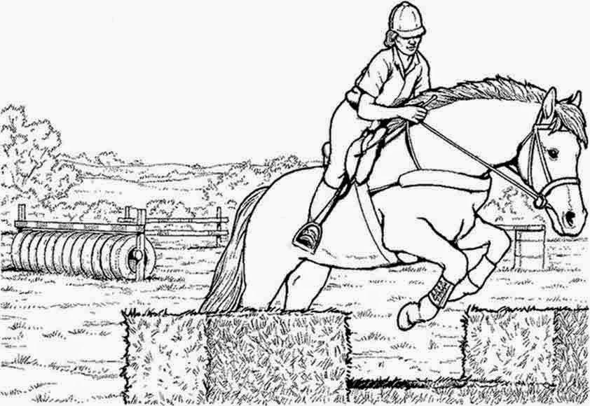 ausmalbilder pferde mit reiterin