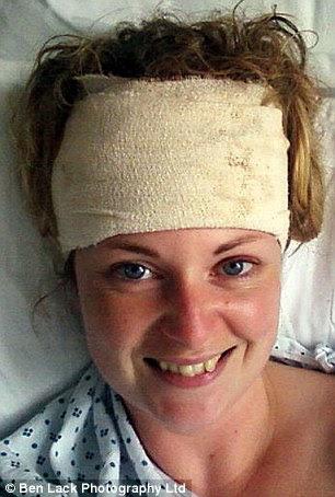 Still smiling: Lisa says she feels lucky