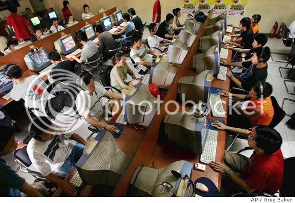 internet cafe Chine