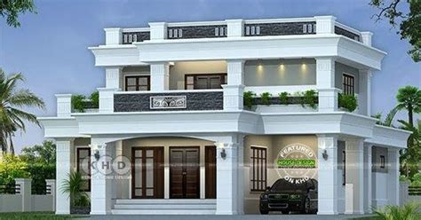 lakhs cost estimated decorative flat roof home