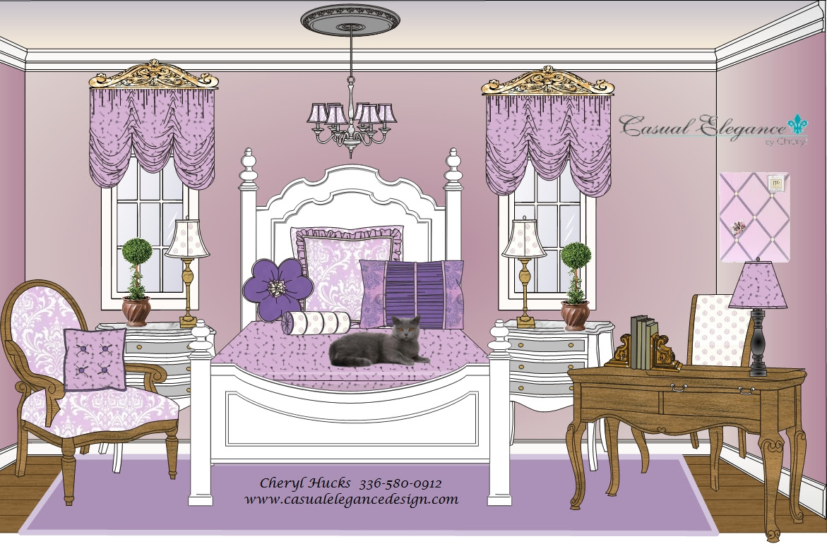 Lavender teenage bedrooms - large and beautiful photos. Photo to