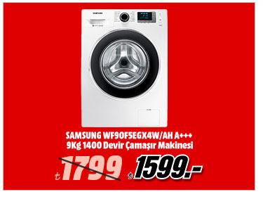 SAMSUNG WF90F5EGX4W/AH A+++ 9Kg 1400 Devir Çamaşır Makinesi 1599TL