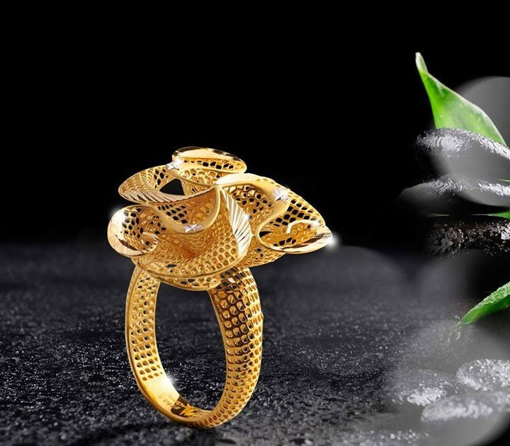 2ef524ca6a390 22K Gold Ring Design from Jewel One ~ South India Jewels