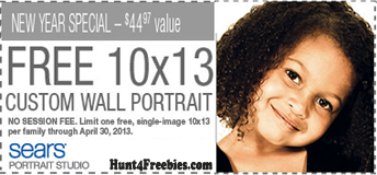 10x13 Wall Portrait Sears1 Sears Portrait Studios: FREE 10x13 Custom Wall Portrait