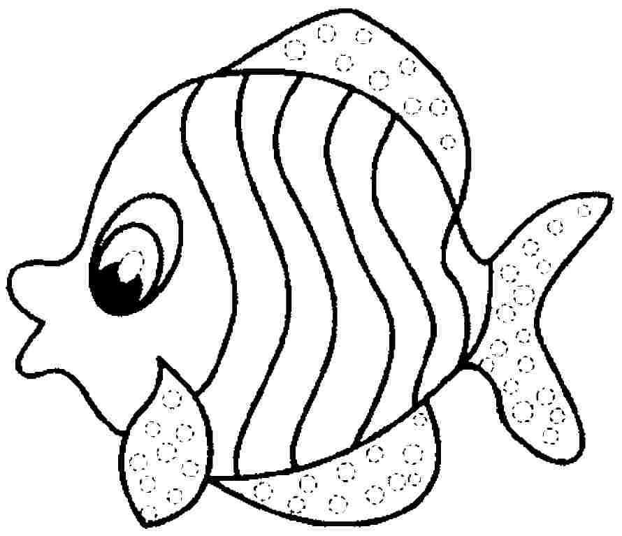 Fish Coloring Pages - Kidsuki
