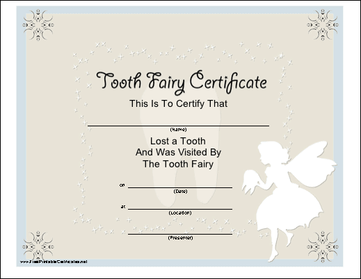 Munchkins and mayhem free printable tooth fairy letters for Free printable tooth fairy certificate template