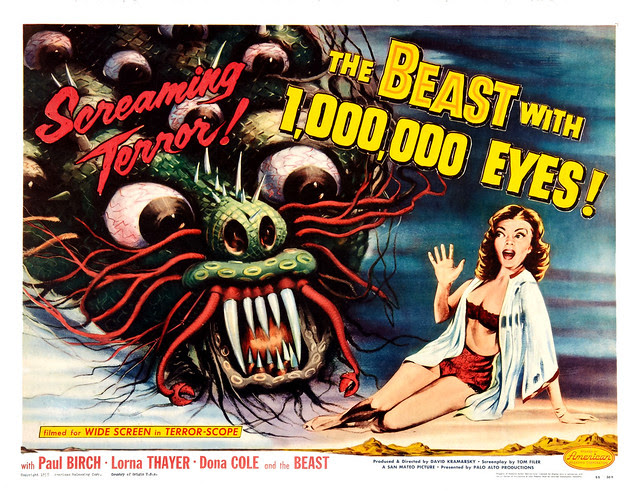 Albert Kallis - The Beast with 1,000,000 Eyes! (American Releasing Corp., 1955) Half  Sheet
