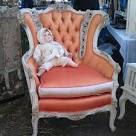 Peach vintage arm chair in G2… So gorgeous! #Melrosetradingpost ...