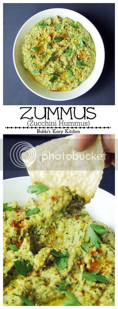 Zummus (Zucchini Hummus) - Taking hummus to the next level with garden fresh grilled zucchini from www.bobbiskozykitchen.com