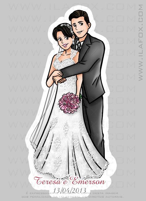 caricatura personalizada, caricatura noivos, lembrancinha casamento original, by ila fox