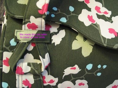Blossom Bag strap & tabs