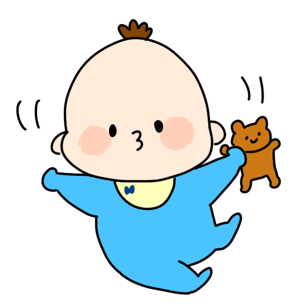 ご機嫌な赤ちゃんのイラスト かわいいフリー素材が無料のイラストレイン