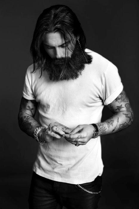 Frisuren Für Männer Gerade Lange Haare Länge Mit Bart Kunstopde