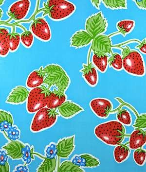 Sky Blue Forever Oilcloth Fabric