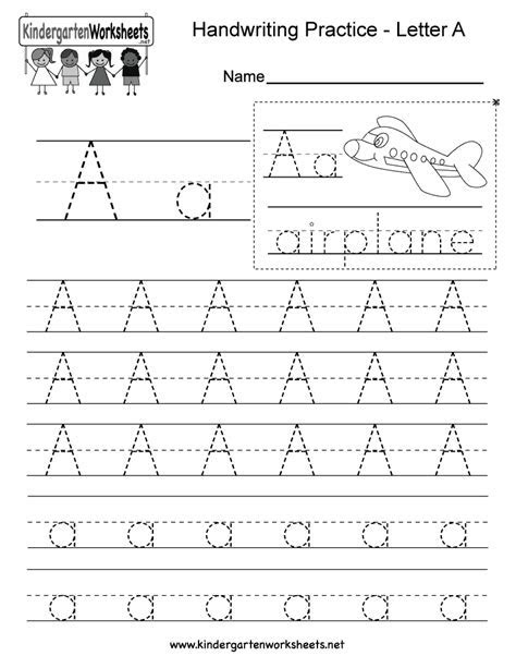5 Letter A Preschool Printables   diy Thought