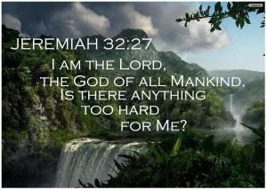 Jeremiah 32:27 – The God of all mankind Papel de Parede Imagem