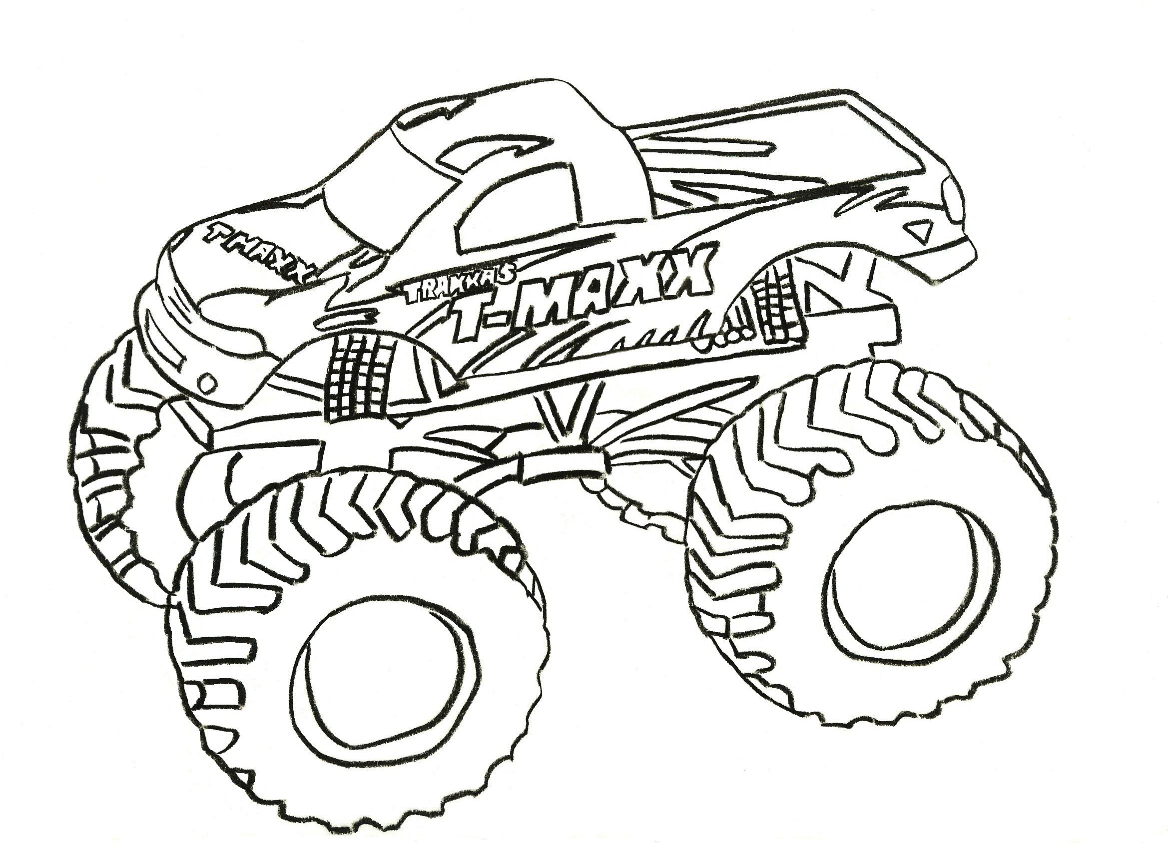 Monster Truck Coloring Pages | Coloring Pages To Print