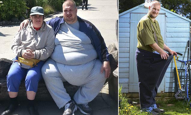 The pie who loved me! Man called James Bond loses 24 STONE after getting so fat on junk