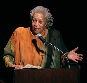 Toni Morrison speaking at