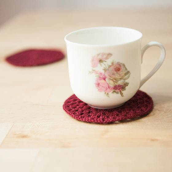 Granny Circle Crochet Coasters  free crochet pattern