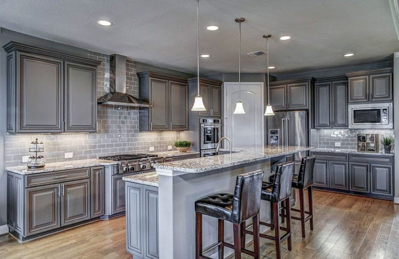 Trends For White Kitchen Cabinets With Gray Subway Tile Backsplash Photos