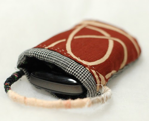 Cat phone case, Black check wool