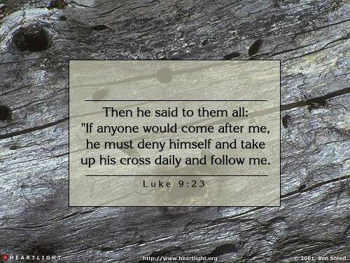 Inspirational illustration of Luke 9:23