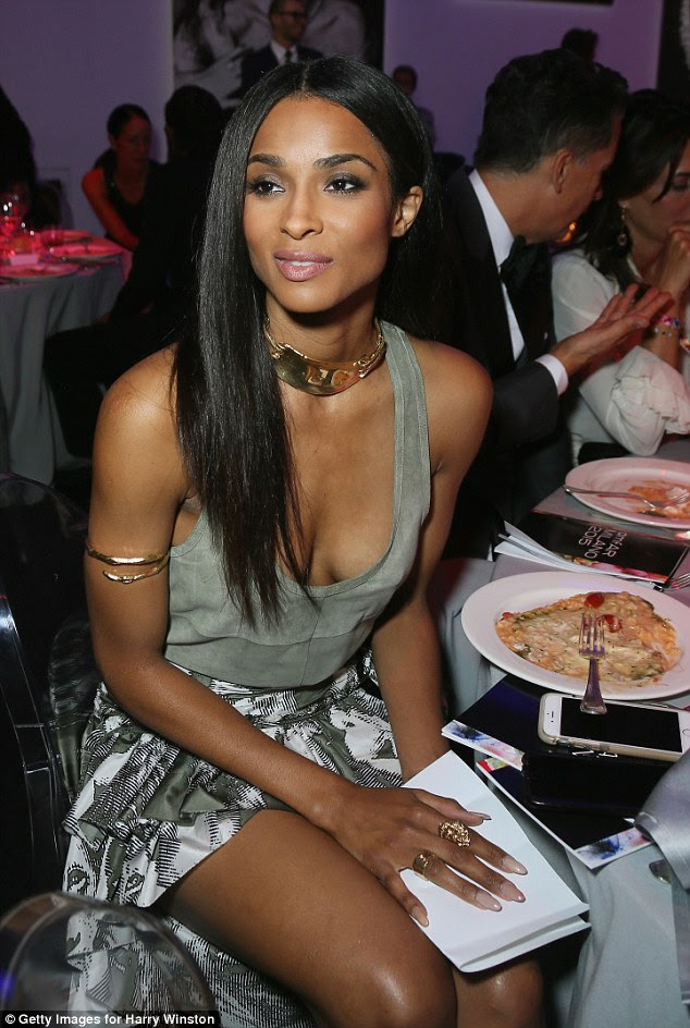 Looking good: Singer Ciara made sure all eyes were on her when she attended the prestigious amfAR gala in Milan on Saturday evening