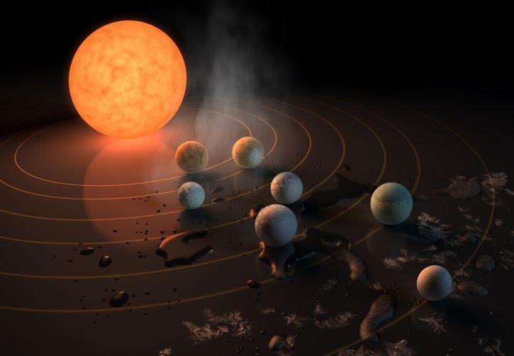 TRAPPIST 1 representacion artistica