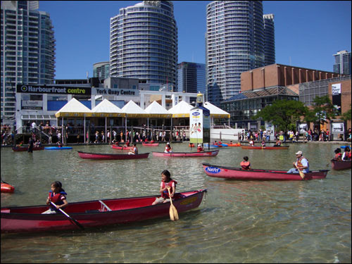 Canoeing lessons, Harbourfront, Canada Day 2010