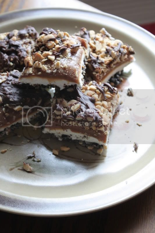choco-salty-caramel bars masrhmallow candy oreo
