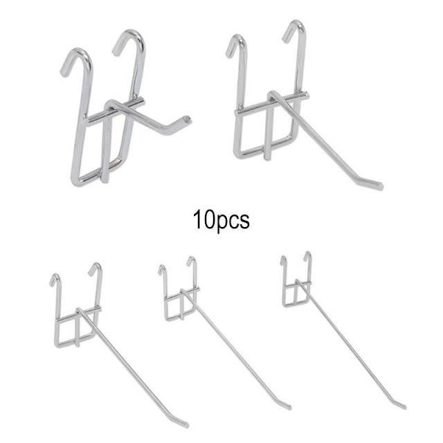 Купить Недорого 10 шт. металлическая сетка крюк для пегборда ювелирные магазины разное дисплей вешалка Online H2 Купить Онлайн