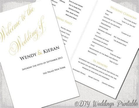 25  best ideas about Wedding ceremony booklet templates on