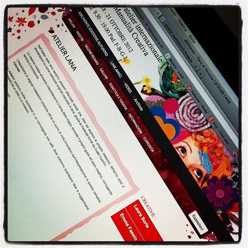 Invitata come creativa ad Abilmente 2012 nell'Atelier della Lana:))) emozione pura