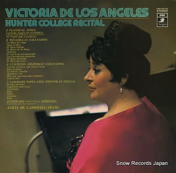 ANGELES, VICTORIA DE LOS hunter college recital