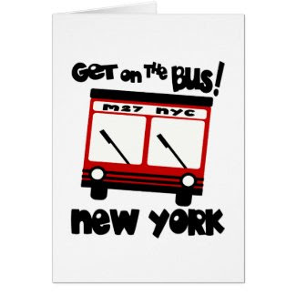 NYC, Get On The Bus With Red Hybrid Bus card