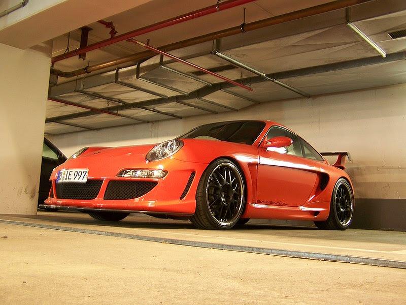 File:Orange Gemballa Avalanche (Porsche 997) with black rims in the Kempinski Hotel Kurfuerstendamm underground parking garage.jpg