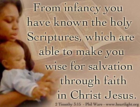 Inspirational illustration of 2 Timothy 3:15
