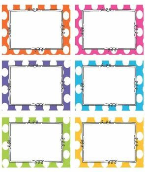 EDITABLE BRIGHT Polka Dot Tags/ Label- Classroom labels | Adobe ...