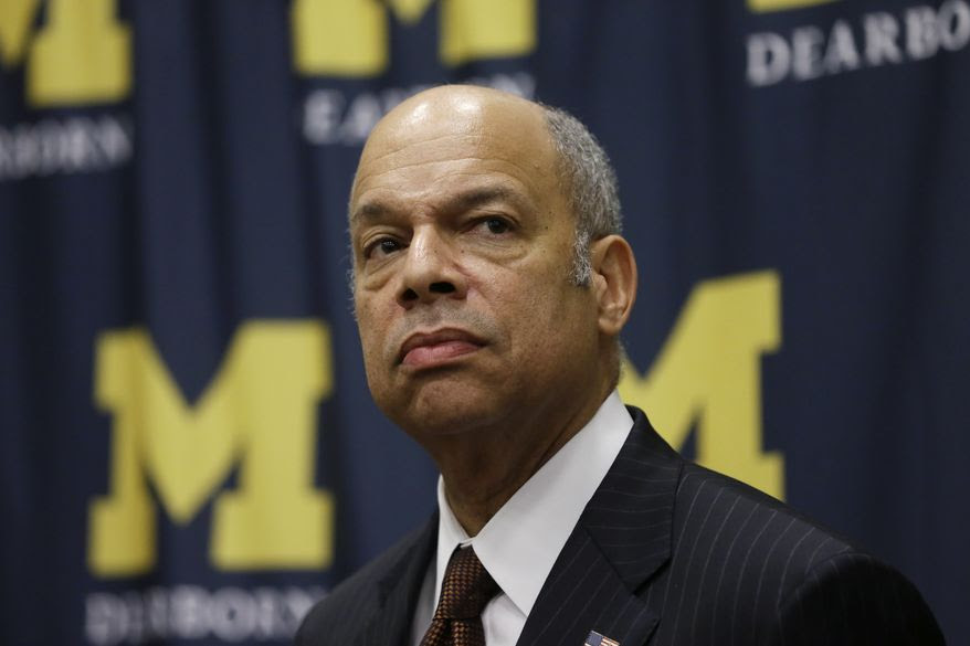 Secretary of Homeland Security Jeh Johnson listens to a question after speaking at the University of Michigan-Dearborn on the Department's efforts to engage communities to form partnerships focused on fostering better public safety and homeland security, Wednesday, Jan. 13, 2016, in Dearborn, Mich. (AP Photo/Carlos Osorio)